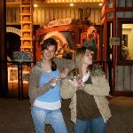 Outside the mirror maze (with our gloves)