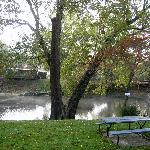 Picnic Tables Along the River for Outdoor Dining