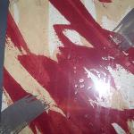 Mystery liquid stain on the painting