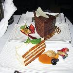 Room Service (Carrot Cake/Chocolate Tower)