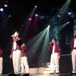 Five of the Haygood boys sing during the first performance of their 2007 Christmas program.