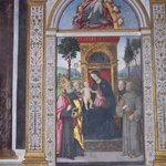 Altarpiece of the Madonna enthroned by Pinturicchio in della Rovere chapel
