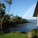 Looking out from our lanai after a rain storm.