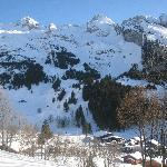 Ski country around La Clusaz