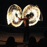  Fire show at the hotel club