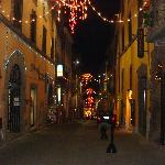 Street the hotel is located on at Christmas time.