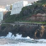 The hotel is built on top of a cliff