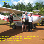 Arrival At Kabalebo By Airplane.