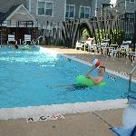 At the pool - Residence Inn Fair Lakes in  Fairfax, VA