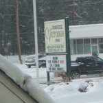  The sign for the Traverse Victorian Inn.
