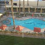 View of the pool from our room.
