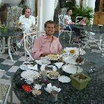 afternoon tea on the hotel veranda