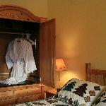 Amenities include housecoats for use by guests.