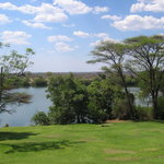 View of Chobe river from dining area