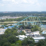 The view from the top of the tower at Sea World