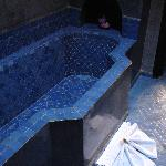  Blue tiles in the bathroom