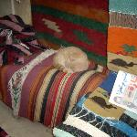 carpets and a sleeping cat