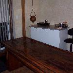 The Wood table they do the Indian treatment on