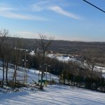  View from the quad chair lift