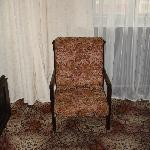 High-backed chairs and the ugly carpet
