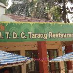  The restaurant inside the MTDC resort at Ganpatipule