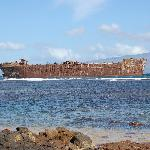 The shipwrecked boat from WWII.