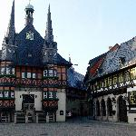  Wernigerode town hall and hotel is the building on the right hand side.