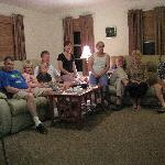 Some of our gruop in the livingroom