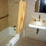 Handicap accessible bathroom at Comfort Inn