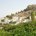  Acroplolis from Lindos Square