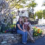 my mom and i at one of the vineyards