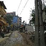  Sapa GoldSea Hotel, street in front of hotel