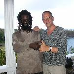 guest with the gardener of paradise bay