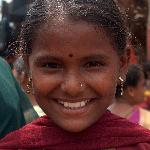 Cheeky girl at Anjuna Wednesday Market.