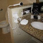 handicap accessible bathroom at the Courtyard