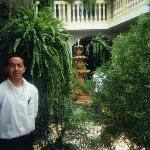  Hansel, our waiter, and the interior garden