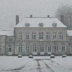 The Chateau in the snow
