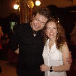  tango teacher Eduardo Saucedo and I at Confiteria Ideal