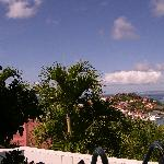 view from hotel to gustavia