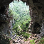 Open cave on the self-guided tour
