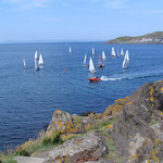 Dinghy races off North Berwick with Craigleith Island