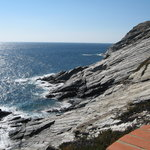 view from Cala Na