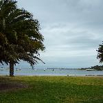 A view from the seafront at Geelong