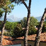 View of the Carrara Marble Mtns from the Terrace of our room