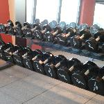 At last free weights in the fitness center