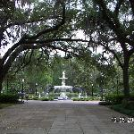 The gorgeous fountain park a block away.