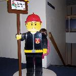  Lego Figure in hotel hallway