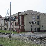Railroad crossing and Sleep Inn