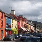  A street in Kenmare--note the hills in the background, so beautiful!
