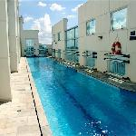 roof-top pool Comfort Suites Oscar Freire